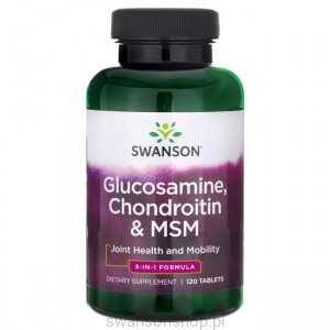 Glukozamina/Chondroityna/MSM 120tab - suplement diety