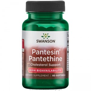 Pantesin Panthetine 300mg 60 kaps - suplement diety
