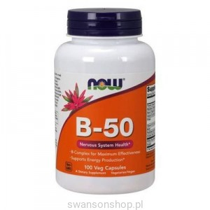 NOW Foods Witamina B-50 100kaps