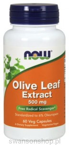 NOW Foods LIŚĆ OLIWNY EXTRACT 500 MG