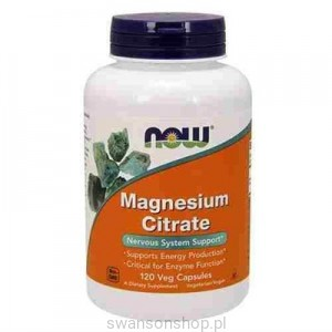 NOW Foods Cytrynian Magnezu 200mg 100tab