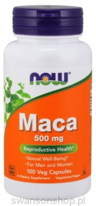 NOW Foods MACA 500 MG 100kaps