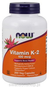 NOW Foods Witamina K2 100mcg 250kaps
