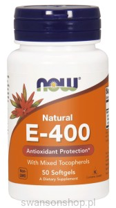 NOW Foods Witamina E Naturalna 400/100