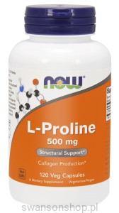 NOW Foods L-prolina 500 mg – 120 kapsułek