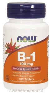 NOW Foods B-1 100 mg – witamina B1