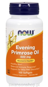 NOW Foods Evening Primrose oil – Olej z wiesiołka 500 mg – 100 kaps