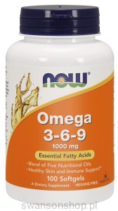 NOW Foods Omega 3-6-9, 1000 mg – 100 kaps