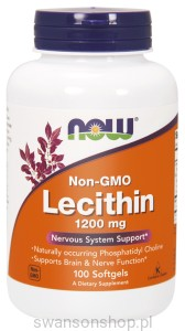 NOW Foods Lecytyna (bez GMO) 1200 mg – 200 kap