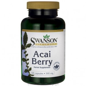 Acai owoce 500mg 120 kaps - suplement diety