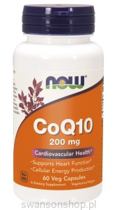 NOW Foods CoQ10 200 mg – Koenzym Q10– 60 kaps