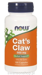 NOW Foods Cat's Claw Koci Pazur 100kaps