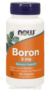 NOW Foods Boron 3 mg – 100 kaps
