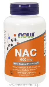 NOW Foods NAC – N-Acetylocysteina 600 mg – 100 kaps