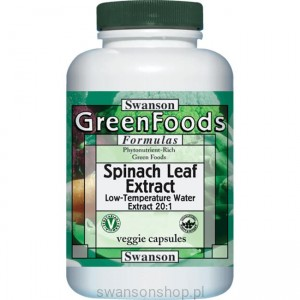 Spinach leaf extract 650mg 60 kaps