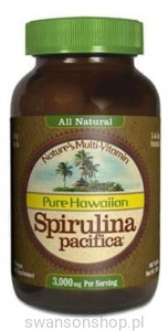 Spirulina Pacifica® hawajska 1000 mg (180 tabletek) - suplement diety