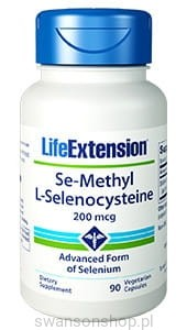 Selen - Se-Methyl L-Selenocysteine LifeExtension (90 kapsułek) - suplement diety