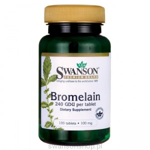 Bromelina 100mg 100 tab - suplement diety