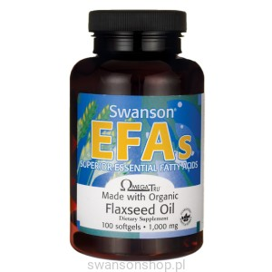 Flaxseed Oil 1000mg 100kaps żel- suplement diety
