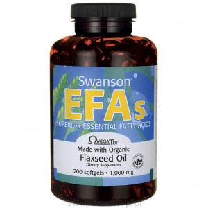 Flaxseed Oil 1000mg 200kaps żel - suplement diety