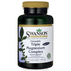 Triple Magnesium Complex chewable 60 - suplement diety