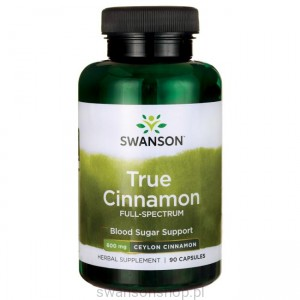 Full Spectrum True Cinnamon (Cejloński) 600mg 90k - suplement diety